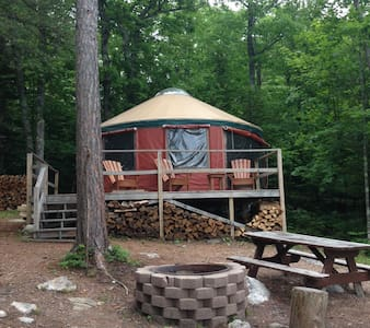 Mountaintop Yurt - Hike or Ski in! - Bridgton