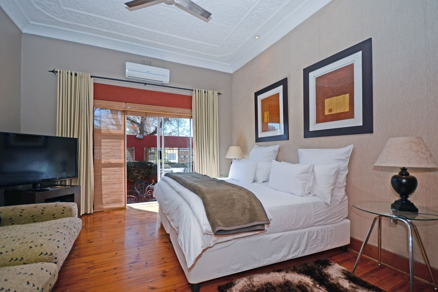 Suite one offers private patio area, kitchenette, en suite bathroom and can accomodate 3 people.
