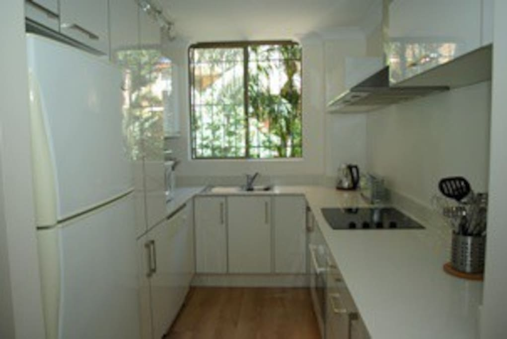 Access to all kitchen appliances including microwave & juicer