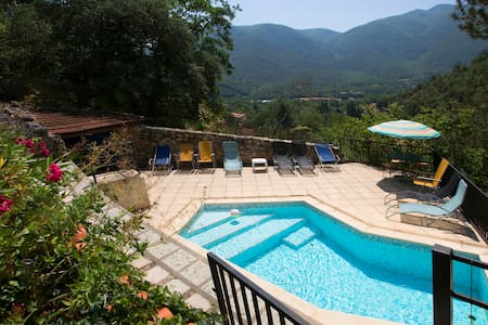 Villa with 2 pools & amazing views - Arles