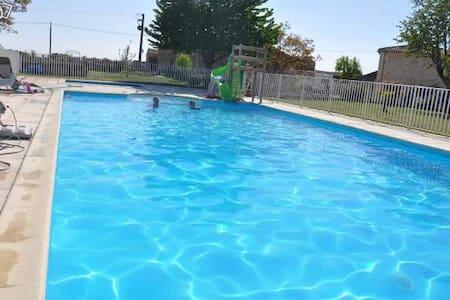 Gite 53m² 2 chambres piscine - Rumah