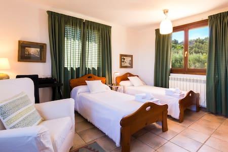 Habitación dos camas en preciosa finca rústica - Santa Eugènia - Rumah