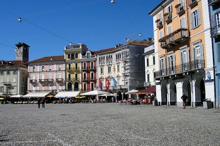 Near the historic Piazza of Locarno