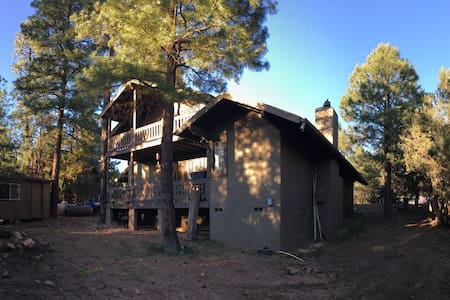 Quiet cool getaway. The Rim lakes Ponderosa pines - Heber-Overgaard - Casa