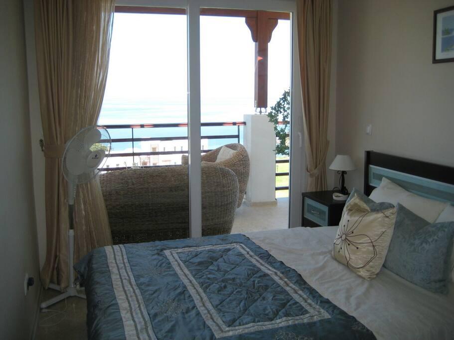 Maste bedroom with sea views