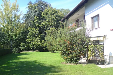 It is a small apartment for 2 persons with fully equiped kitchen, bathroom, bedroom and terrace where you can enjoy eating breakfast listening trees rustle.  Apartment is located in a peacefull area less than 10 minutes away from the Bled lake.