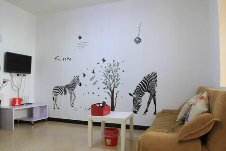 交通便利简洁清新一室一厅套房 - Appartamento
