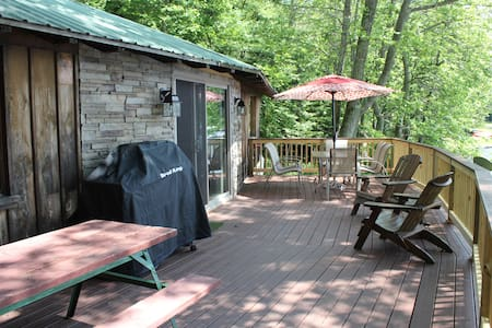 Lake Front Rustic Comfy Relaxing - South New Berlin - Cabana