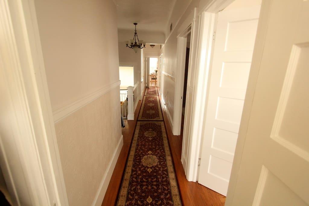 Hallway towards kitchen.