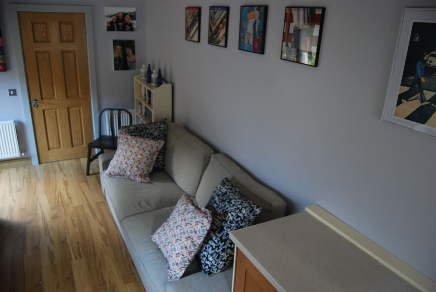 Lovely studio like apartment with double sofa bed which pulls out to king size double in seconds