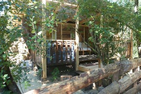 Gîte Cabane Saloon en Ardèche - Malbosc - Cabane