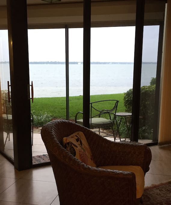 The water view is seen from all rooms except the shower areas and washer/dryer room.