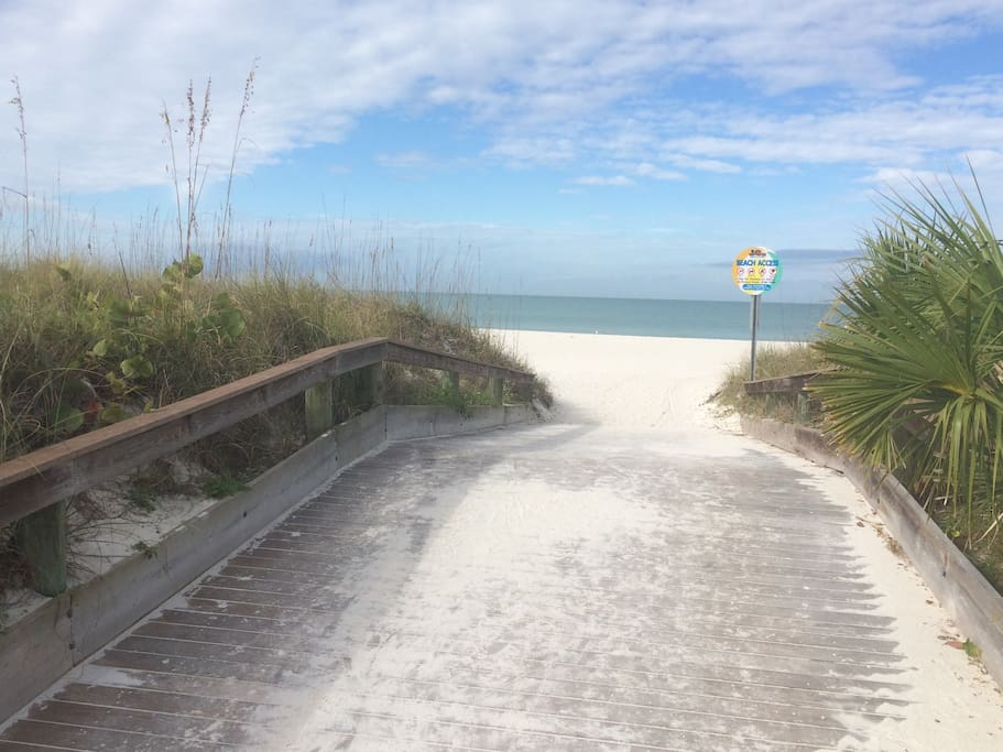 Walkover to the beach