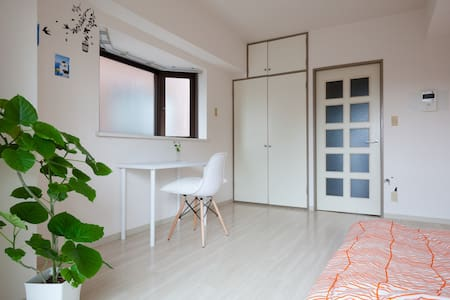 If you don't mind sharing small room with me,  It will be cozy place for you. I like traveling and talking with people.  My apartment is in a quiet residential area. It takes 20minutes by train and 10minutes walk to Shibuya.