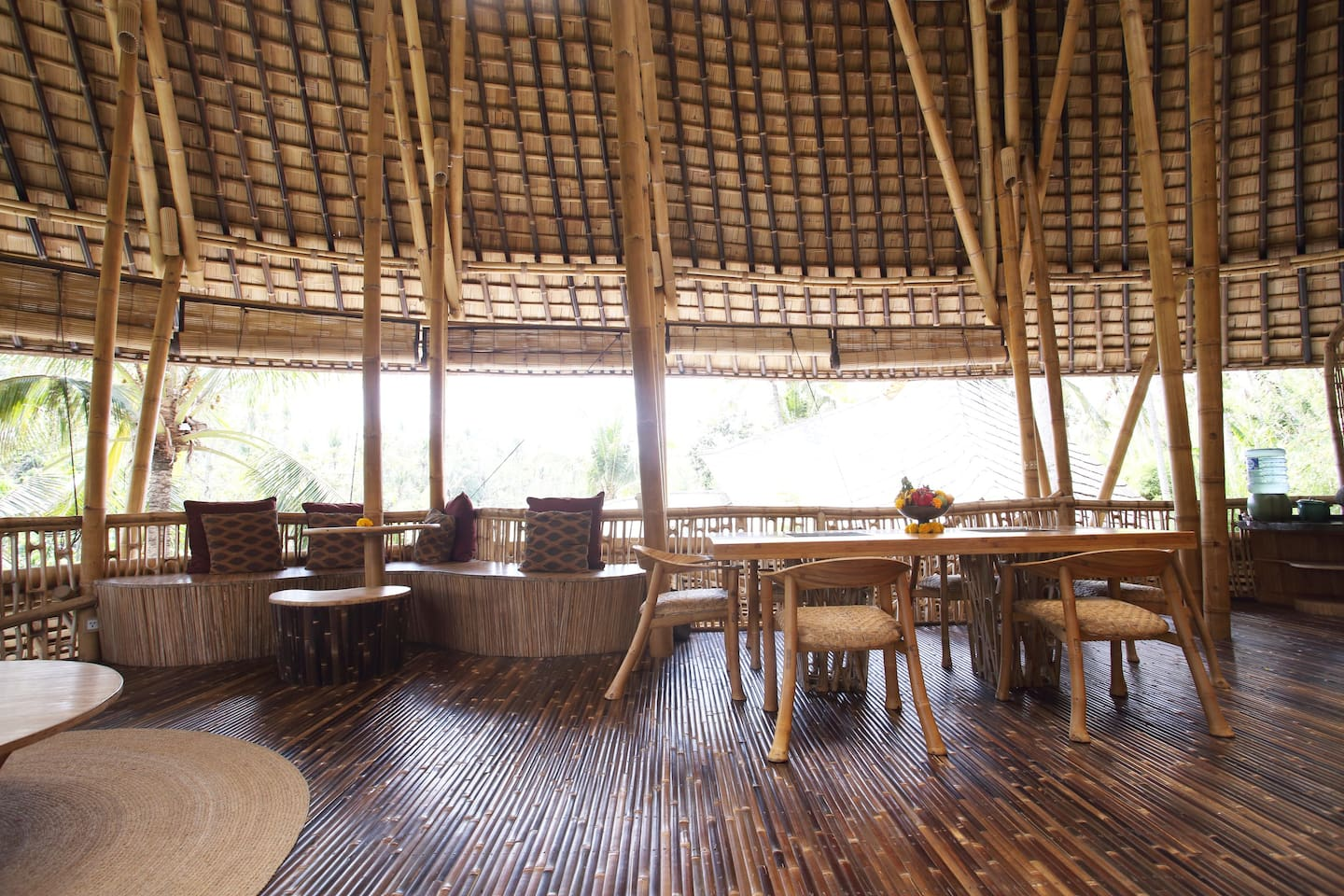 Temple View House, made entirely from bamboo