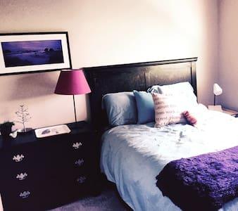 Cozy bed  in 2 bedroom home