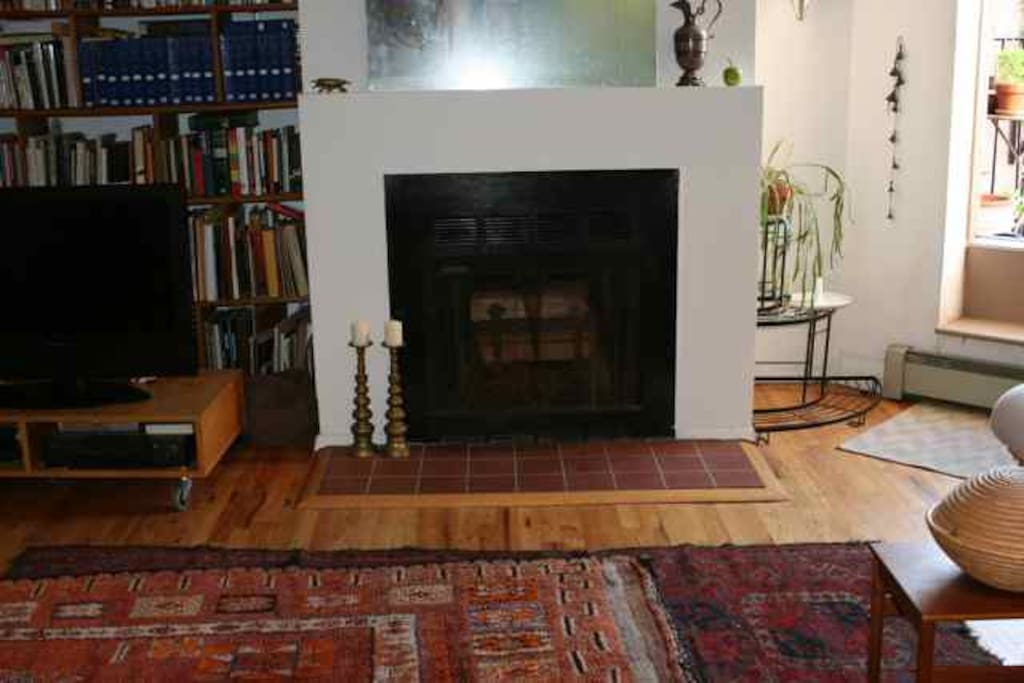 Nice fireplace but you probably won't need it in July!