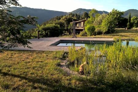 Gîte en pierres et sa piscine naturelle - Saint-Fortunat-sur-Eyrieux