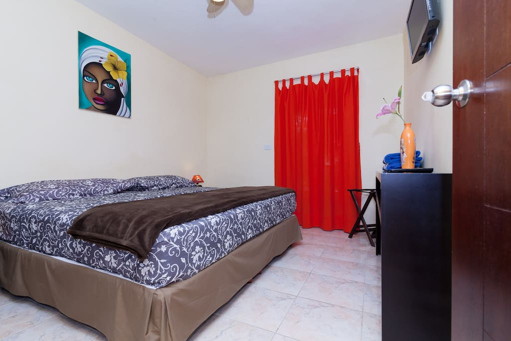 Bedroom is very spacious, king size bed