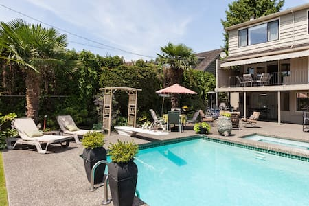 Rare pool oasis,near airport &UBC!