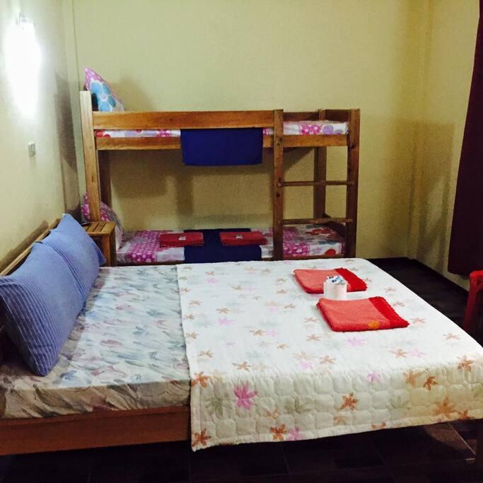 Room 3; 2 pax: P900.00; 4 pax: P1500.00