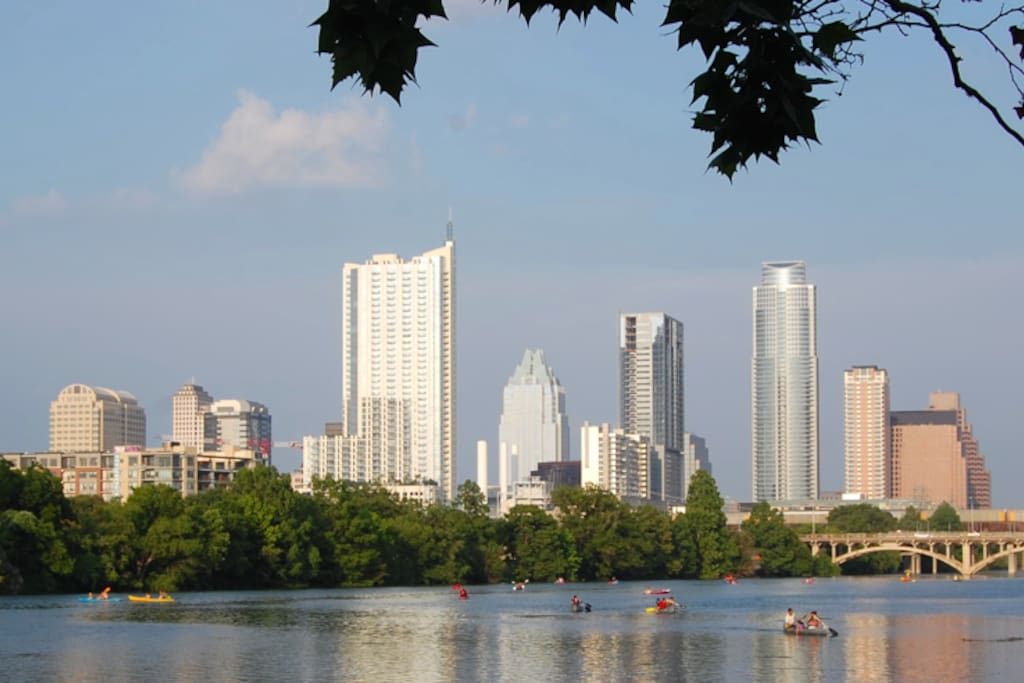 Central Austin. Within a short walk - cafe's, theatre, film, downtown, swimming, boating, hiking, biking.
