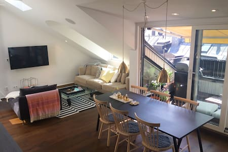Top location with sunny terrace - Stockholm - Loft