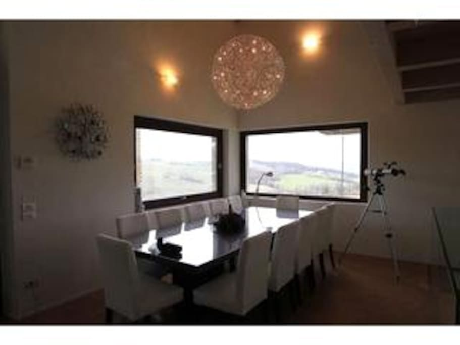 View of Dining Room Table in Kitchen