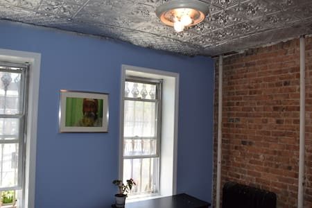 Tin Ceilings and Decorative Firepla