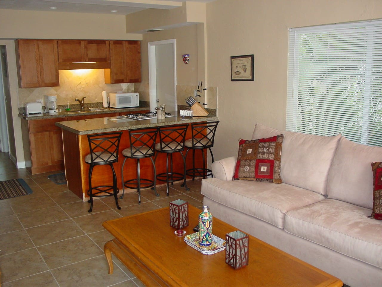 Renovated - Open Granite kitchen, with tile floor, central air and heat