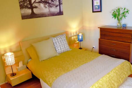 We have travelled widely & figure 3 things make a great Airbnb experience.  1. Welcoming hosts & relaxed atmosphere 2. Clean, comfortable, well equipped space 3. Great location  We are offering all 3 +private bath+no road noise+parking + more..