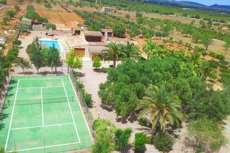 Ca'n Passarell,private pool,tennis court,Es Trenc! - Campos