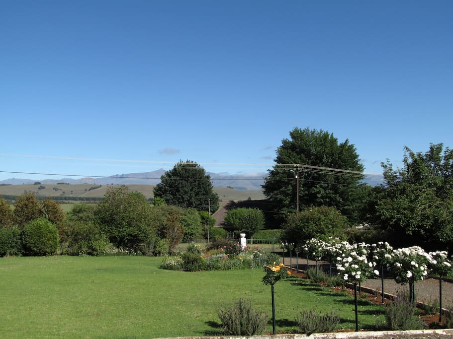 The view from The Mount Grace House.