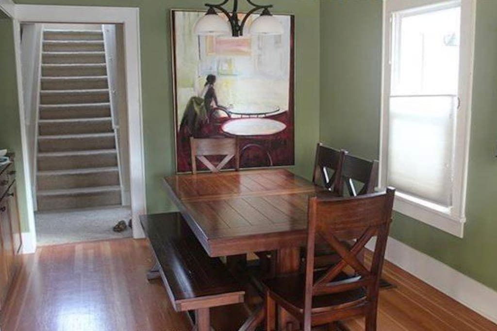 Second eating area - table fits 8 comfortably.