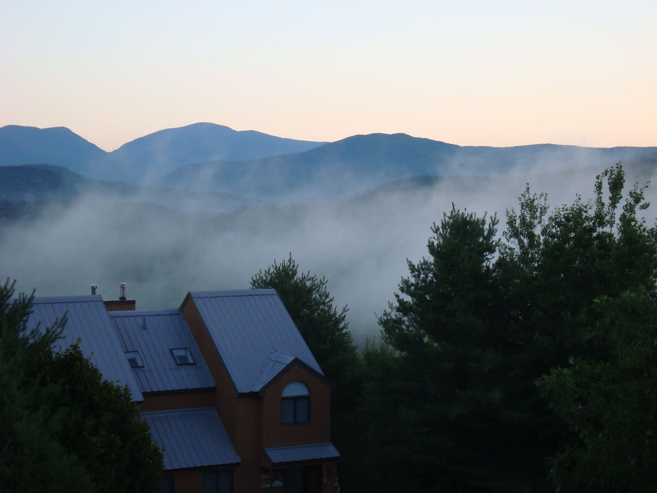 Wake up to this! Valley clouds on a summer morning. Actual view from the unit!