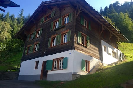 Traditional Swiss House in Nature - Casa
