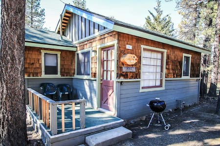 Romantic Couple's Cabin, Walk To Lake, Fireplace and Full Kitchen - Cabin