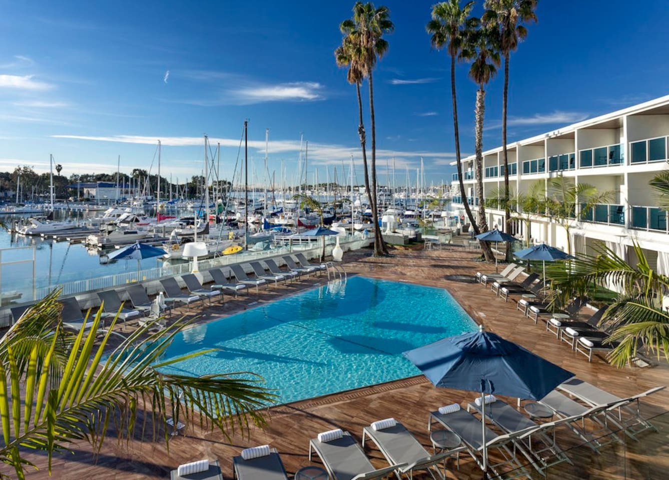 Watch the sail boats lazily float by as you relax on the large balcony patio or lay by the pool in a lounge chair or covered cabana