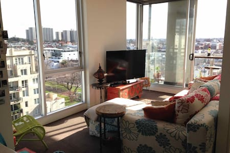 Sunny 2 BR Apt with City views