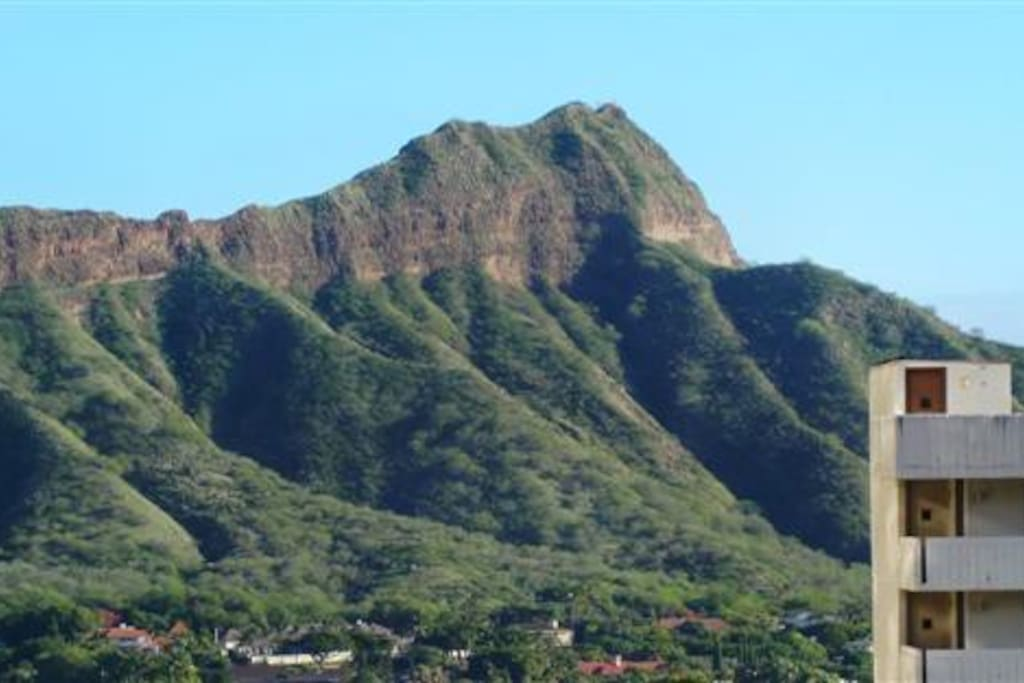 View of Diamond Head from lanai