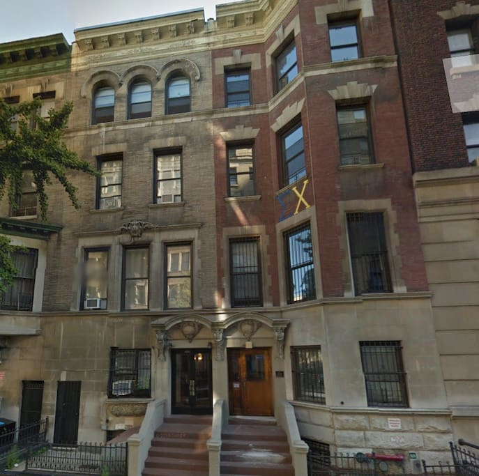 Building is on the left, located on a very quiet residential street in the safest neighborhood in Manhattan