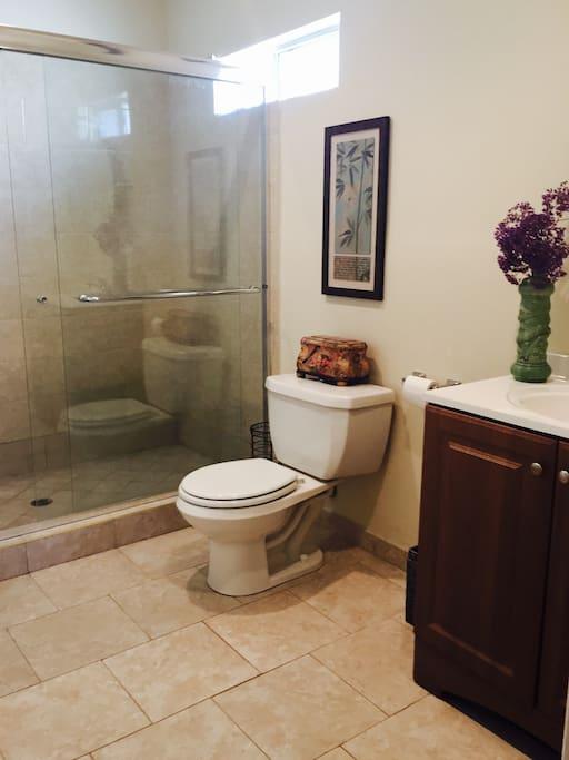 Private master bathroom