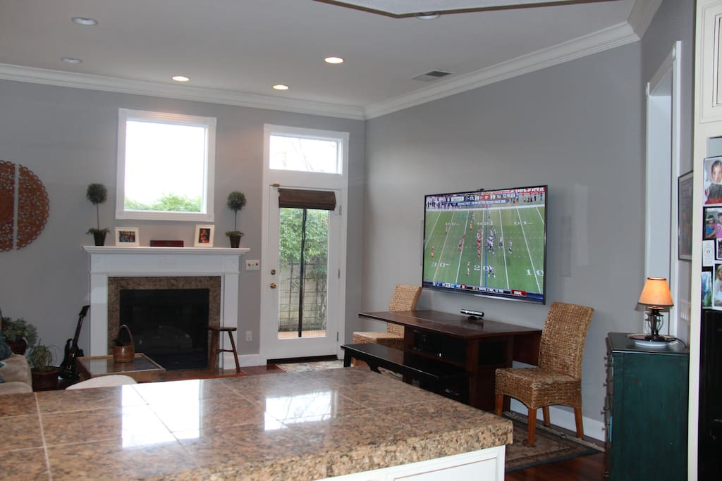 """Brand new, 75"""" Samsung with high end home theater system, Apple TV, and Xbox 360."""