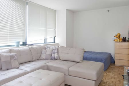 Studio in luxury doorman building on the Upper West Side of Manhattan directly in Lincoln Center, only 5 min from Central Park! The building has all the amenities: doorman, gym, swimming pool, common areas… Studio: big tv, internet, cable...