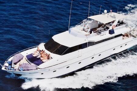 Palma on a 27mtr luxury yacht.