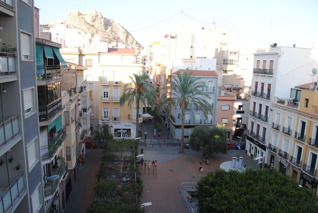 Vistas desde el balcon