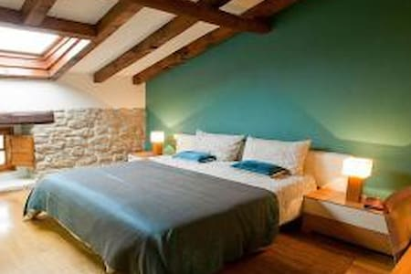 Habitación doble con baño privado - Garínoain - Casa