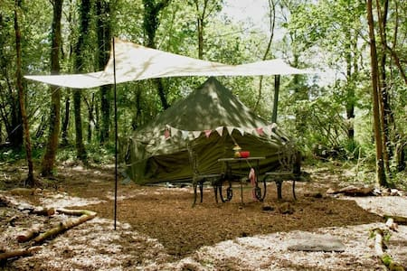 Army bell tent in private area - Tent