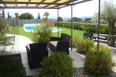 Appartement dans villa au cœur du pays Cathare. - Malviès