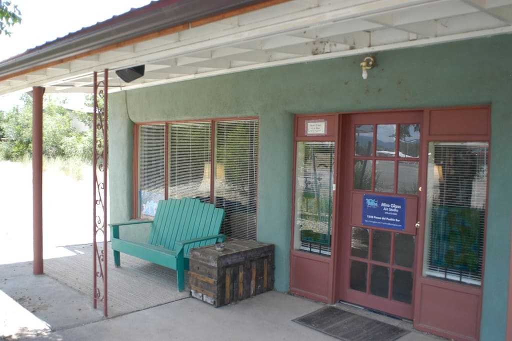 Front porch with outdoor speakers